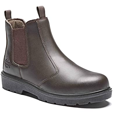 6be5a63fe6b New Mens Brown Dickies Dealer Safety Work Hiker Boots Slip ON Steel Toe Cap  SZ