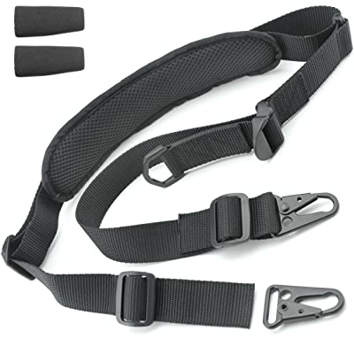 2 Point Rifle Sling - Fits Any Gun, Easy Length Adjuster, Shoulder Pad