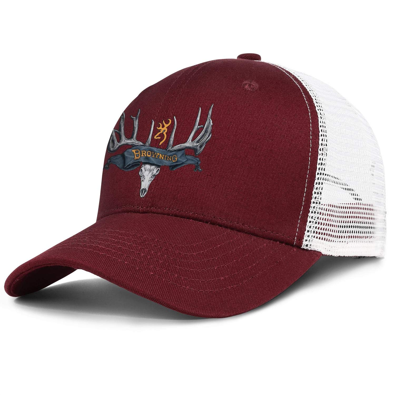 Browning Symbol Browning Deer Head Logo Mens Women Mesh Back Running Trucker Hats Fitted Snapback Hats