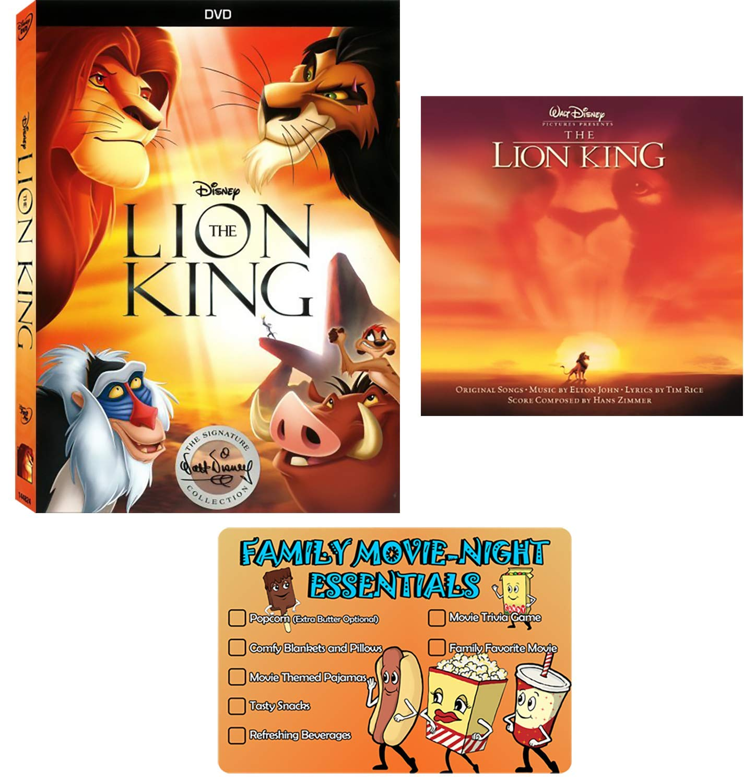 Amazon Com Disney The Lion King Original 1994 Dvd Movie And Elton John Soundtrack Cd Collection With Bonus Art Card Matthew Broderick Rowan Atkinson Movies Tv