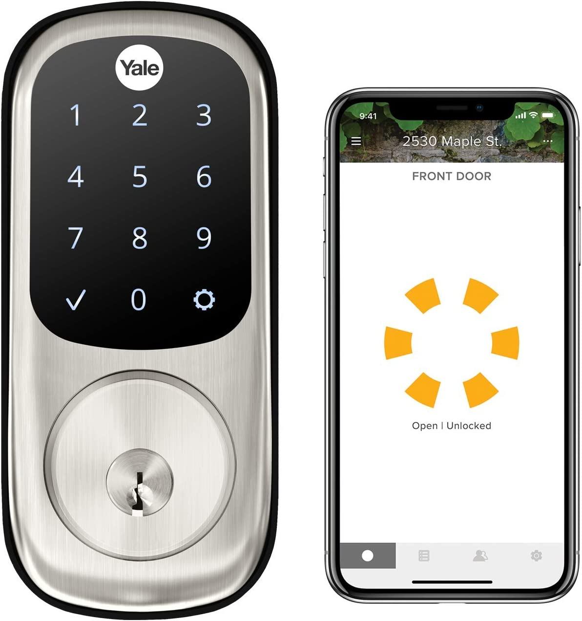 Yale Assure Lock Touchscreen, Wi-Fi Smart Lock - Works with the Yale Access App, Amazon Alexa, Google Assistant, HomeKit, Phillips Hue and Samsung SmartThings, Satin Nickel