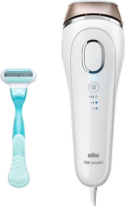 Braun Silk-expert IPL BD 5001 - Depiladora con luz pulsada intensa (IPL), con cable para uso sin interrupción, blanco/bronce + cuchilla Gillette Venus: Amazon.es: Salud y cuidado personal