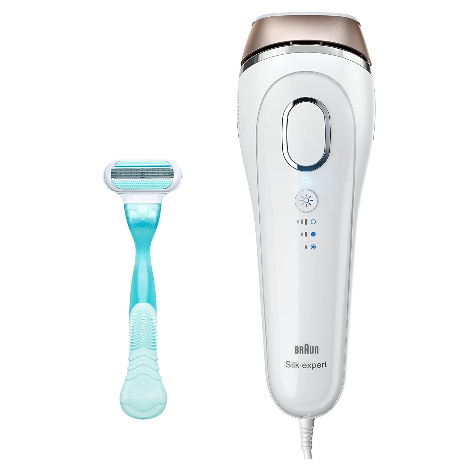 Braun Silk-Expert IPL BD 5001 Intense Pulsed Light, 300,000 Flashes, Face & Body Hair Removal System with Razor