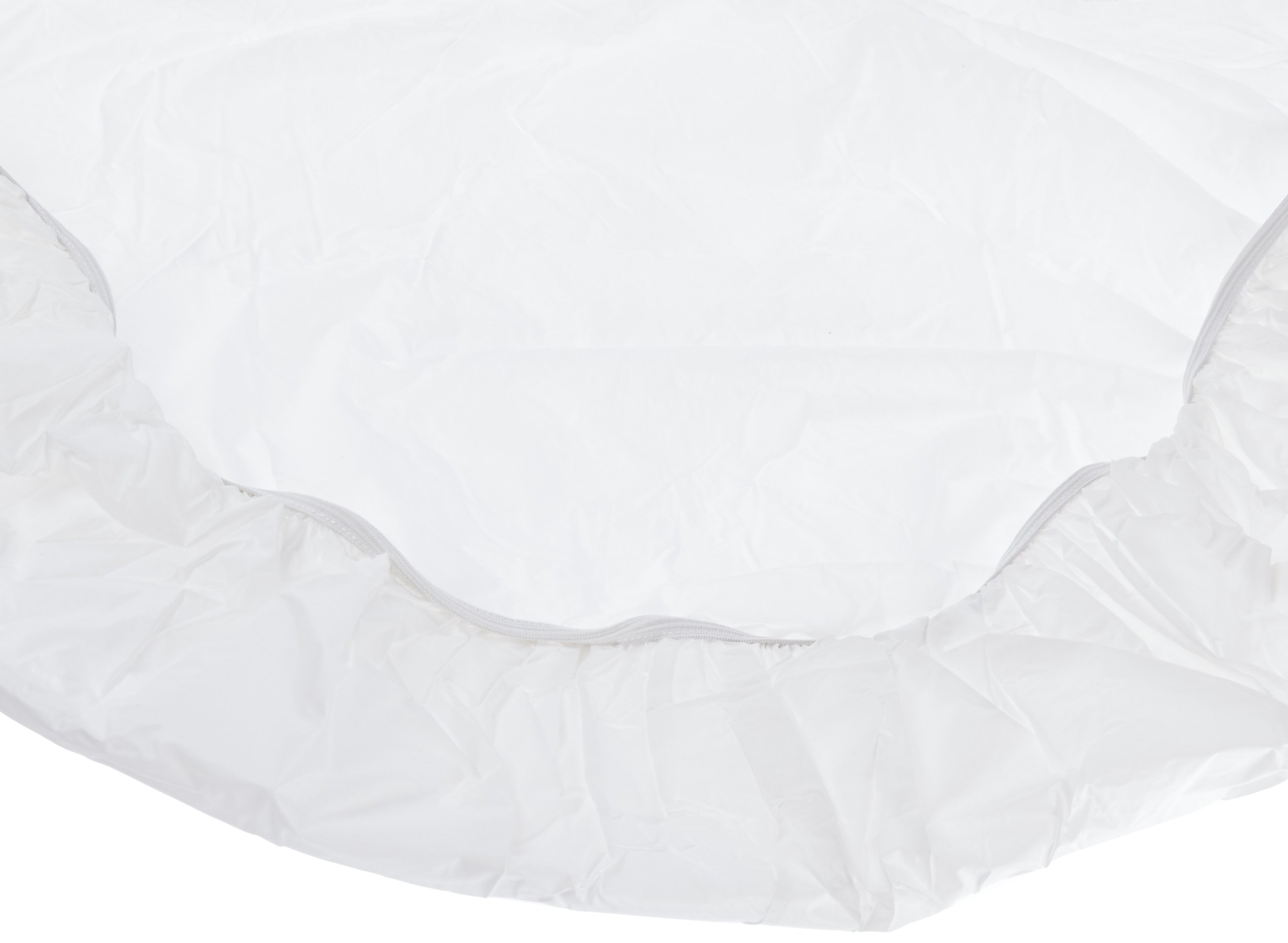 Kwik-Cover 48UM-W 48'' Round UMBRELLA Kwik-Cover- White Fitted Table Cover (1 full case of 100)
