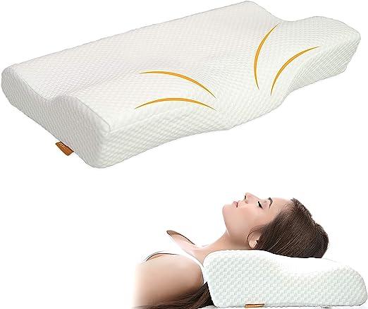 Amazon Com Memory Foam Cervical Pillow For Neck Pain Best Back