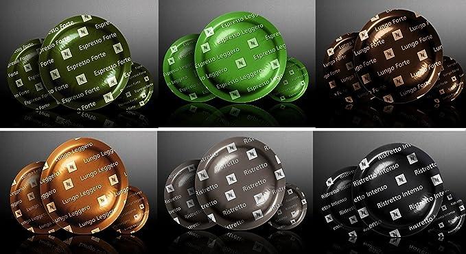 NESPRESSO 6 PACK X 50 PRO ORIGINAL Commercial Capsules Ristretto, Ristretto Intenso, Espresso Leggero