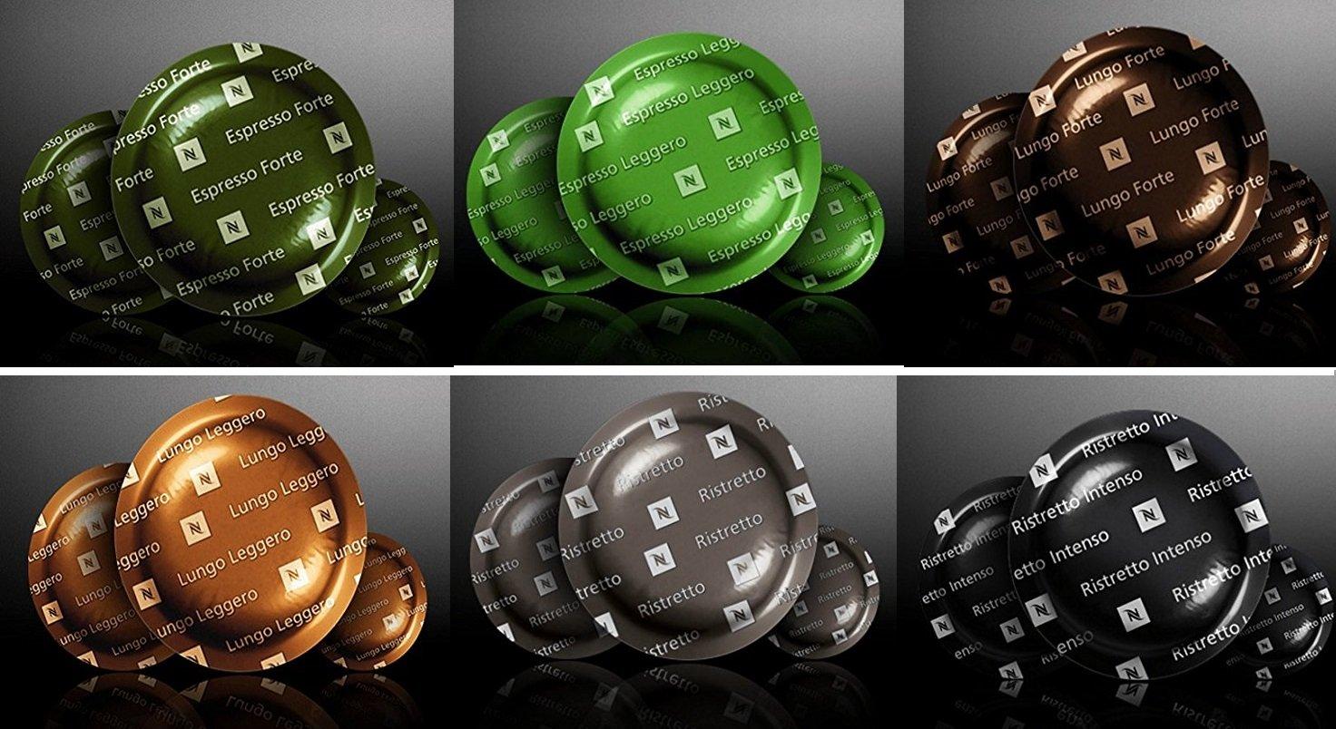 NESPRESSO 6 PACK X 50 PRO ORIGINAL Commercial Capsules Ristretto, Ristretto Intenso, Espresso Leggero, Espresso Forte, Lungo Forte, Lungo Leggero