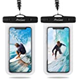 "(2 Pack)ProCase Universal Waterproof Pouch IPX8 Waterproof Cellphone Dry Bag Underwater Case for iPhone SE (2020) S20(6.2) S20+ (6.7"") S20 Ultra 5G(6.9"") iPhone Xs Max XR X 8 7 6S Plus, Galaxy S10+ S10e S9 S8+/Note10 10+ 5G 9, Pixel 4 XL up to 6.9"" -Clear"