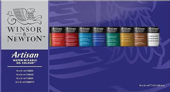 Winsor Newton Artisan Water Mixable Oil Colour Set Ten 21ml Tubes