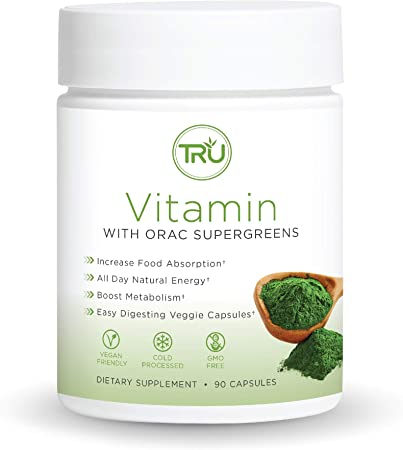 TRU Vitamin, A-Z Vitamin & Mineral Profile, Spectra Supergreens, Digestive and Joint Support, 30 Servings