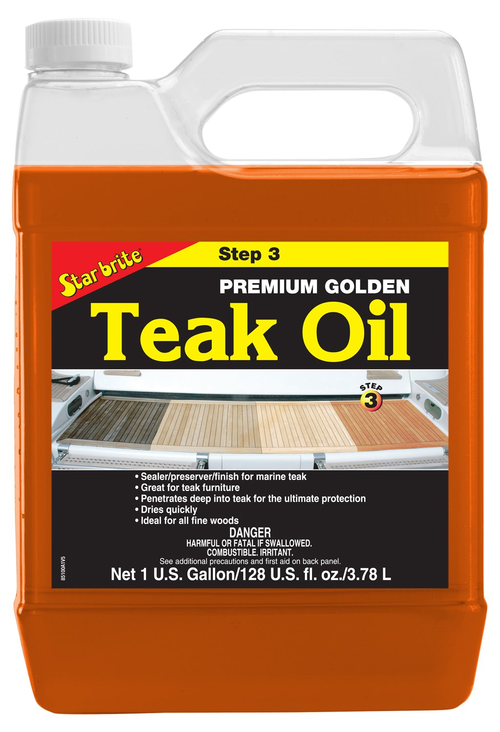 Star Brite Premium Golden Teak Oil - STEP 3-1 gal