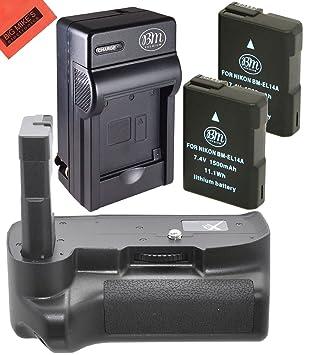 Big Mike s Kit de batería y cargador para Nikon D5100 D5200 D5300 ...