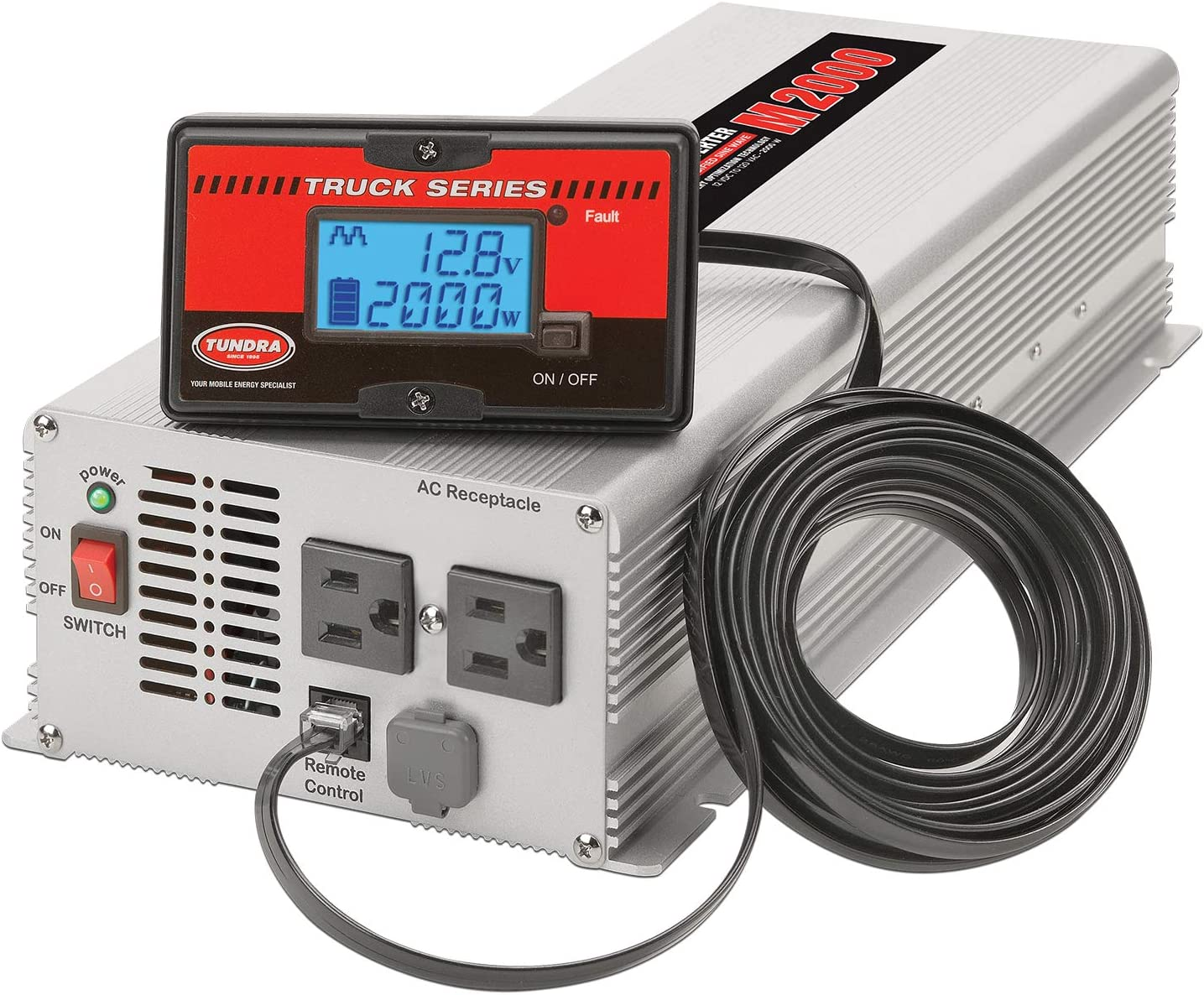 M2000 TUNDRA M Series Power Inverter Modified SINE Wave 2000W // 12 Volts DC to 120 Volts AC