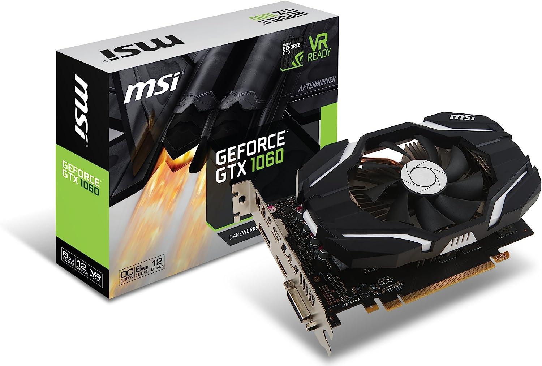 MSI GAMING GeForce GTX 1060 6GB GDRR5 192-bit HDCP Support DirectX 12 Single Fan VR Ready OC Graphics Card (GTX 1060 6G OCV1)