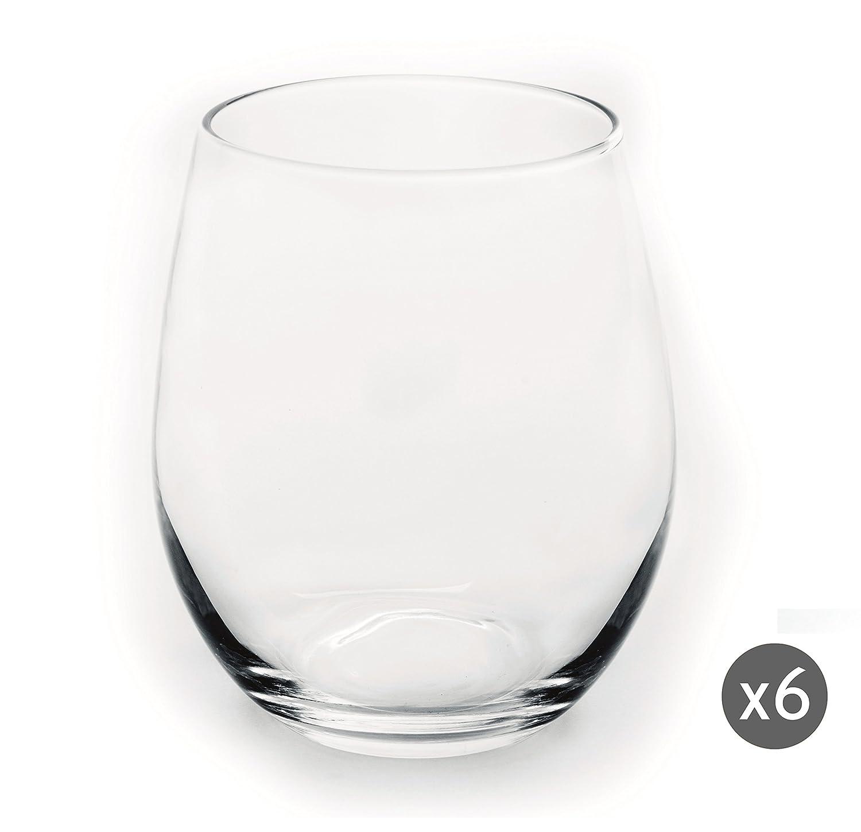 Trasparenti Vetro Excelsa Essential Set 6 Bicchieri Acqua