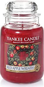 YANKEE CANDLE Red Apple Wreath Large Jar Candle