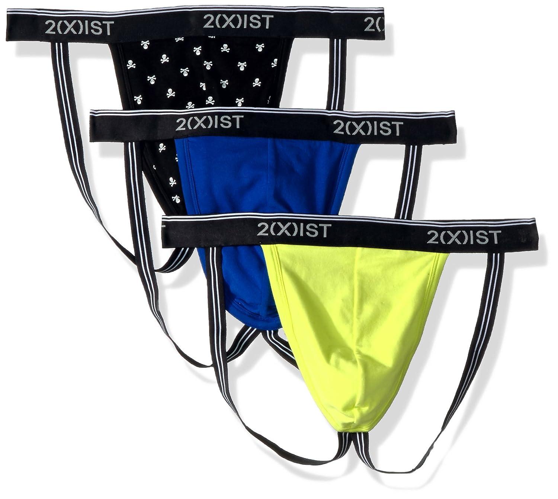 2(x)ist mens Cotton Stretch 3 Pack Jock Strap 2(x)ist Men' s Underwear 021322