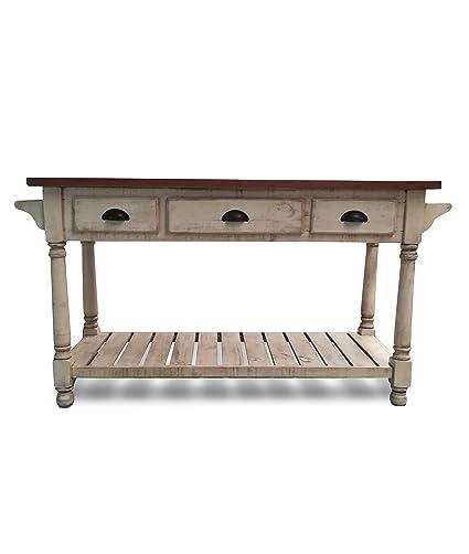 Eagle Furniture Manufacturing KI-36052-CR Ashlen Kitchen Island, Antique  Cream And Mohogany - Amazon.com - Eagle Furniture Manufacturing KI-36052-CR Ashlen
