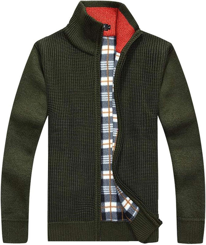 Herren Herbst Winter Strickjacke Cardigan Slim Fit Stehkragen Kleidung Warm Langarm Strickpullover Mantel Oberteile M/änner Nner