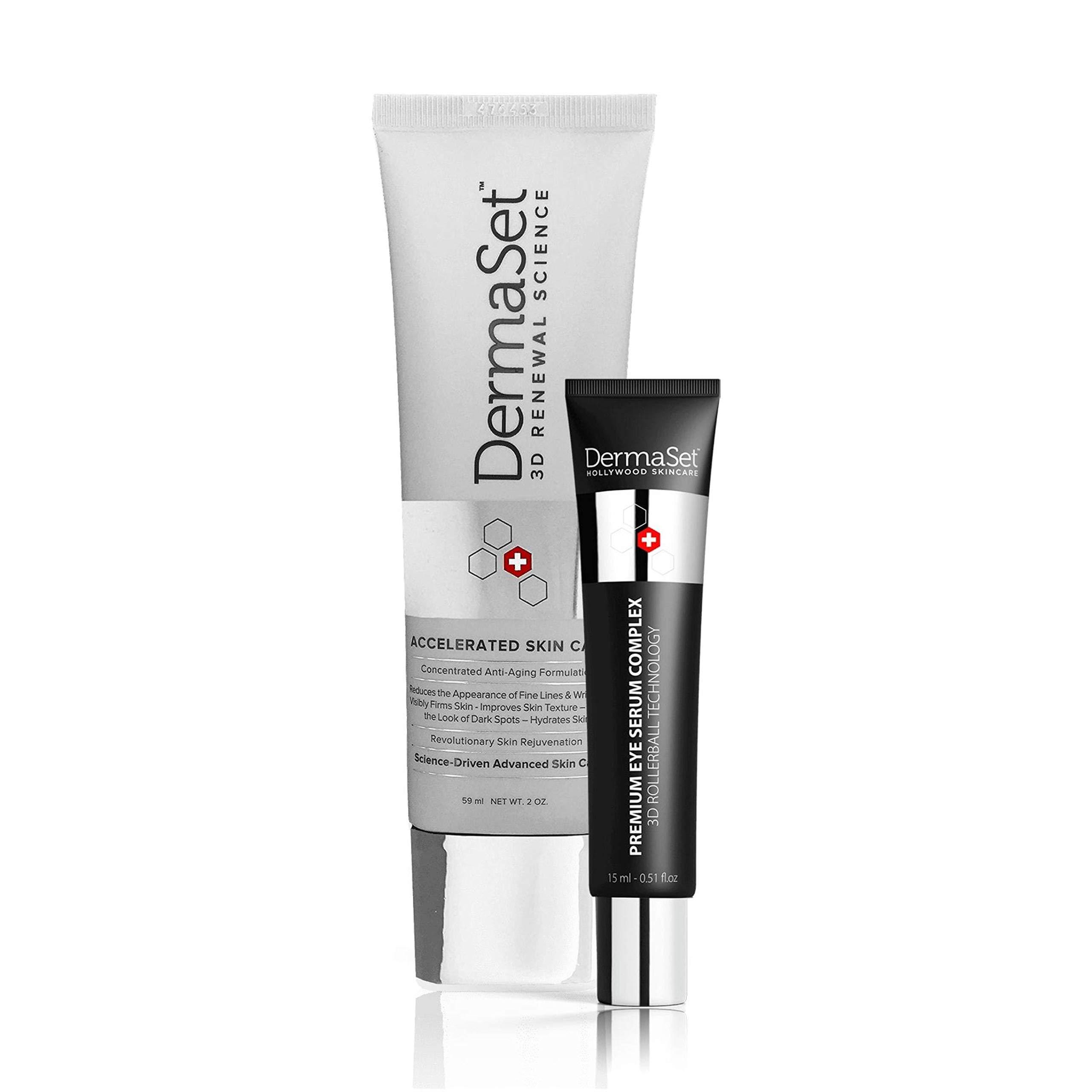 DermaSet Anti-Aging Cream and Premium Eye Serum Rollerball Bundle of Youth by DermaSet