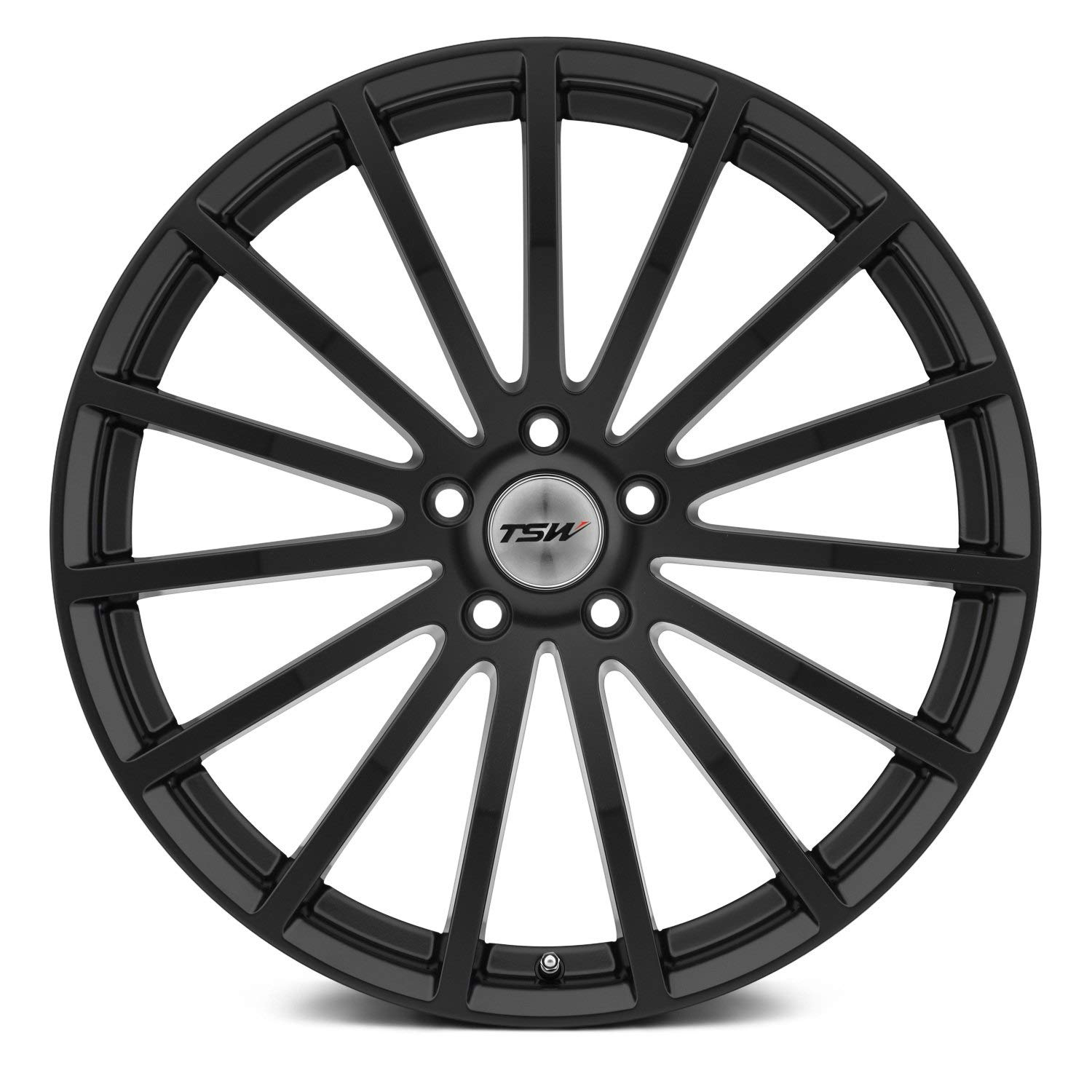 TSW 17 Inch 17x8 wheels MALLORY Matte Black wheels rims