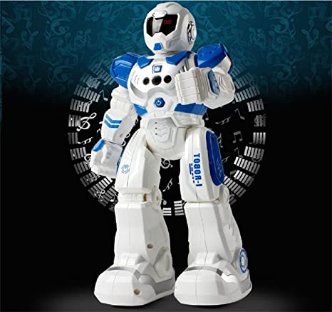 Interactive Walking Singing Dancing Smart Robotics for Kids Boys Girls Toch Remote Control RC Programmable Robot for Kids Birthday Gift Present Blue