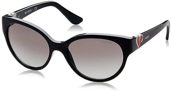 VOUGE Damen Sonnenbrille 0VO5034SB 237711, Rot (Top Dark Red/Opal Red/Greygradient), 56