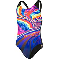 Speedo Geoflash Placement Digital Spashback, Costume da Bagno Bambina