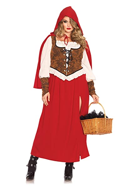 Leg Avenue Women's Woodland Red Riding Hood Costume, Red, Large