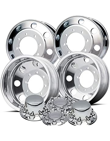amazon motor home rv wheels automotive 36 Chevy Hubcaps accuride 19 5 polished wheel package 8 on 275mm gm or chevy c4500 c5500