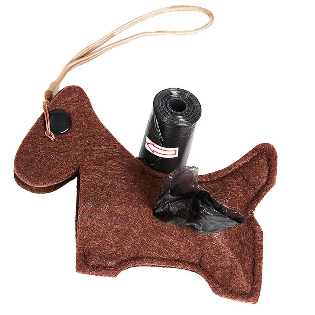 Homyl Pets Dog Poop Waste Dispenser Box Poop Removal Disposal Bags Holder Dog Supplies - Black