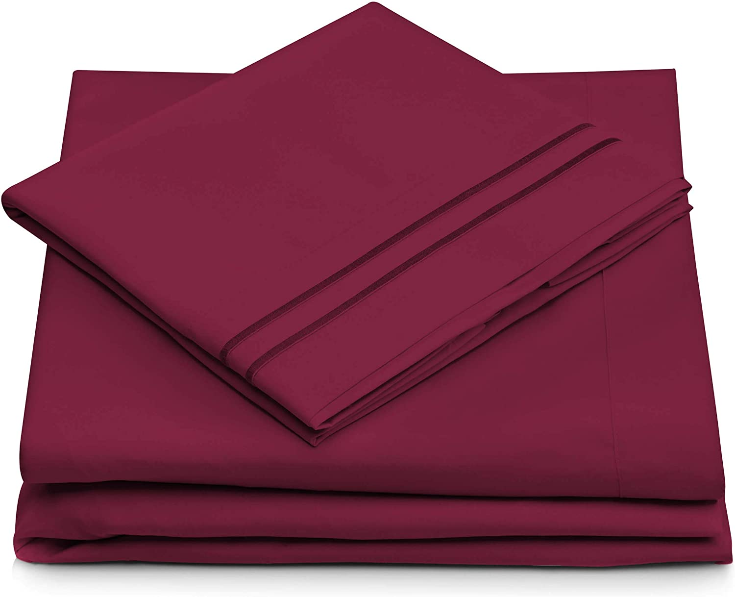 Queen Size Bed Sheets - Fuchsia Luxury Sheet Set - Deep Pocket - Super Soft Hotel Bedding - Cool & Wrinkle Free - 1 Fitted, 1 Flat, 2 Pillow Cases - Magenta Queen Sheets - 4 Piece