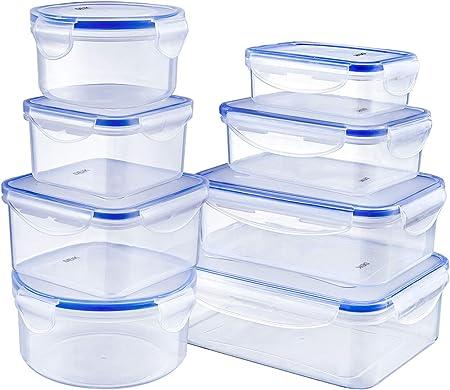 Certificación de calidad: plástico sin BPA, sin bisfenol A, certificado LFGB, adecuado para refriger