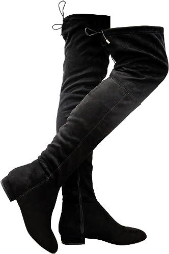 Generic Bottes Cuissardes Femme Noir Noir 37 1 3 Amazon Fr Chaussures Et Sacs