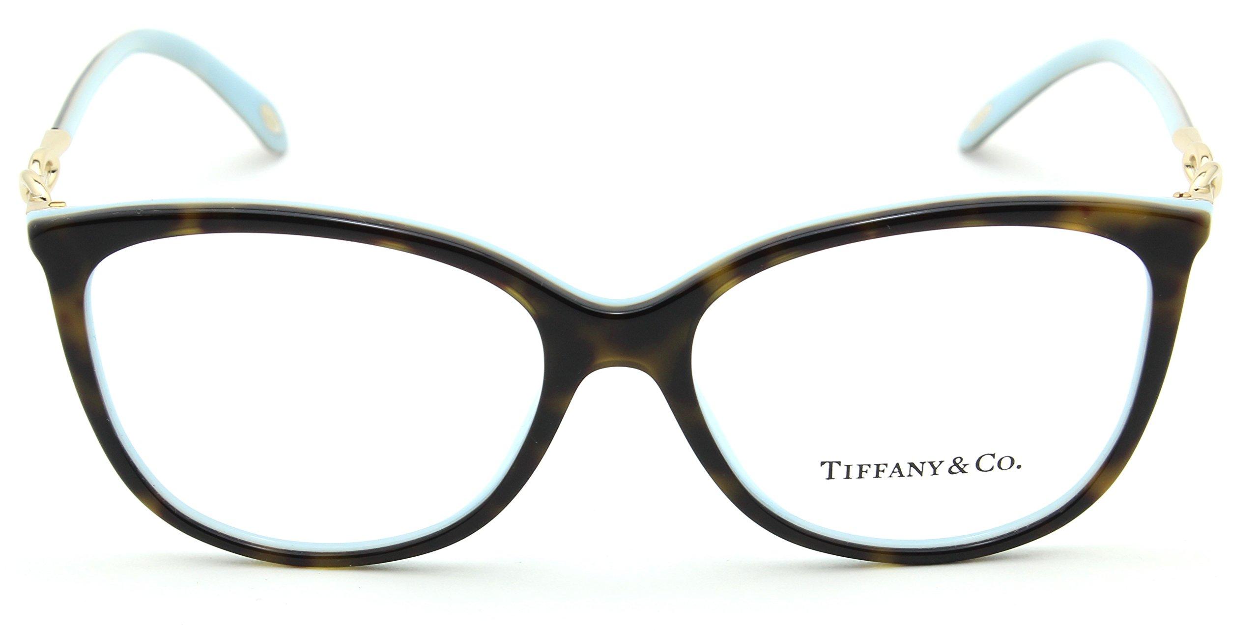 Tiffany & Co. TF 2143-B Women Oval Eyeglasses RX - able Frame (Havana Blue 8134, 53) by Tiffany & Co. (Image #2)