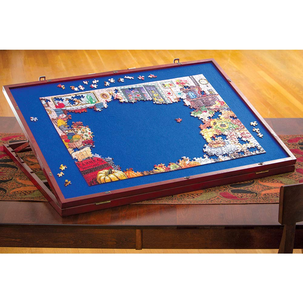 Bits and Pieces - Puzzle Expert Tabletop Easel - Non-Slip Felt Work Surface Puzzle Table Accessory to Put Together Your Jigsaws- Holds 1500 Piece Puzzles by Bits and Pieces