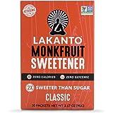 Lakanto Monkfruit Sweetener Packets, 1:1 Sugar Substitute, Keto (Classic, 30 Count)