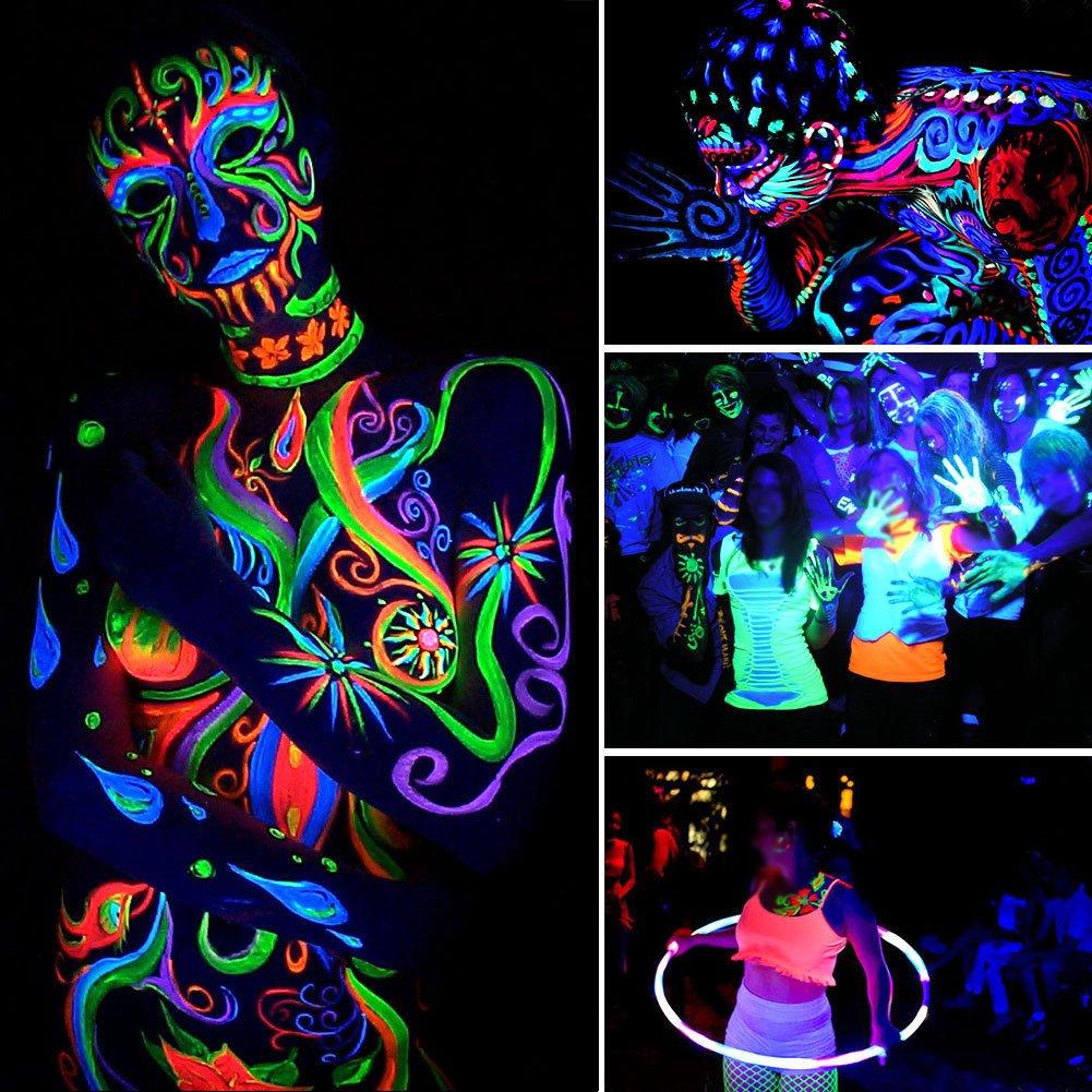 UV LED Black Light 3Wx18 LED Bar Lighting for Parties Halloween Club Metal Housing by U`King (54.00) by U`King (Image #4)