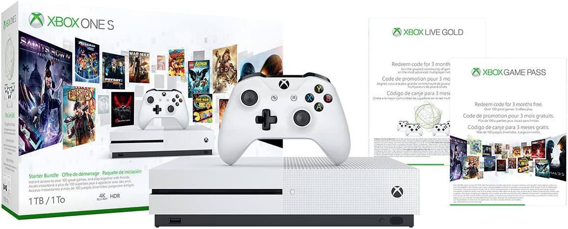Amazon Com Xbox One S 1tb Console Starter Bundle Video Games