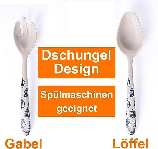 2 tlg Salatl/öffel Gabel Servierset Schwere Edelstahl Salatbesteck Set Spiegelpoliertes Design