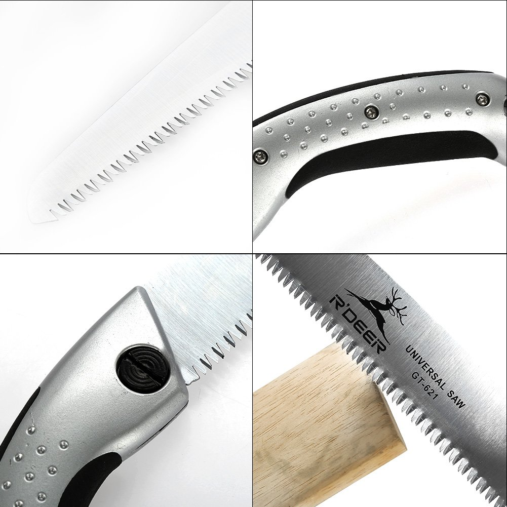 GLOGLOW Hand Saw Aluminum Handle Ultimate Sharp Teeth Blades Garden Pruning Saw with Sheath for Landscape Trimming Tree Branches Clearing Forest Trails Cutting Tool by GLOGLOW (Image #5)