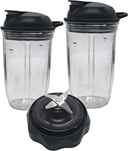 Replacement Combo Easy Twist Extractor Blade with 18oz/24oz cup and to go lid,Compatible with Nutribullet Select Blender 1200:BD-BX098-23&Combo Blender 1200W ZNBF30400Z (5, 1x 18ozcup+1x24oz cup)