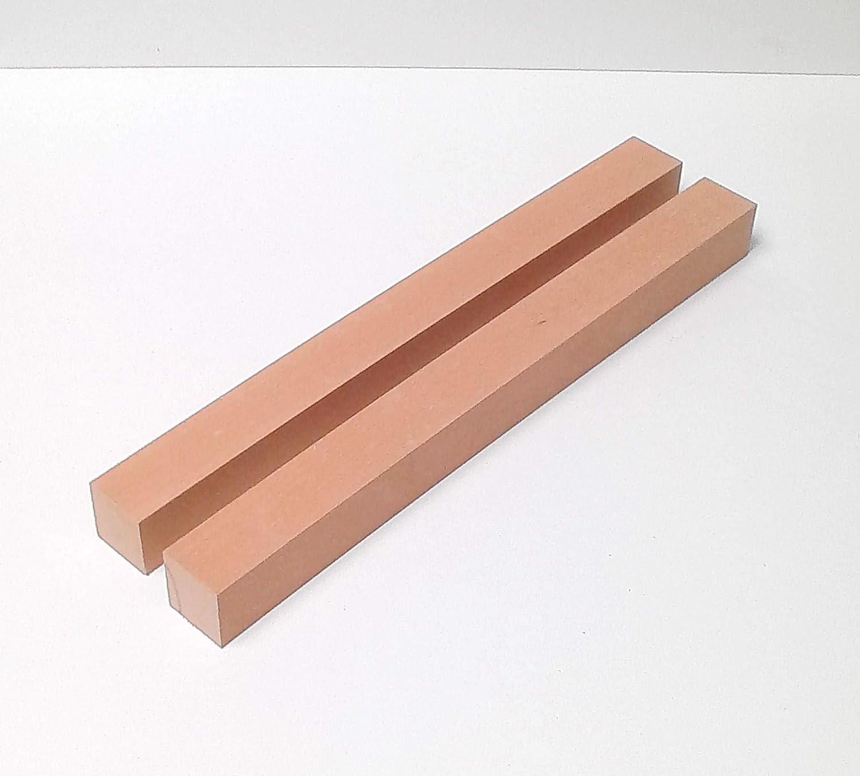 Ma/ße Sonderma/ße. 2 Kanth/ölzer Tischf/ü/ße Drechselholz Bastellholz Buche massiv 48x48x200mm lang
