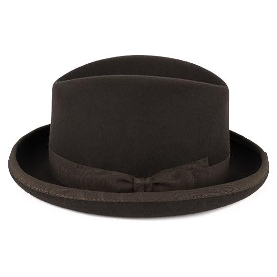 fa3a9170f44 ZAKIRA Men s Homburg Hat in Fine Wool Felt - Handmade in Italy   Amazon.co.uk  Clothing
