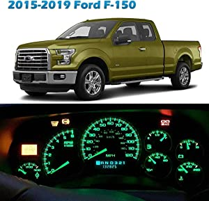 Partsam Speedometer Indicator LED Light Kit Instrument Panel Gauge Cluster Dashboard LED Light Bulbs Replacement for Ford F-150 2015 2016 2017 2018 2019 - Green 20Pcs