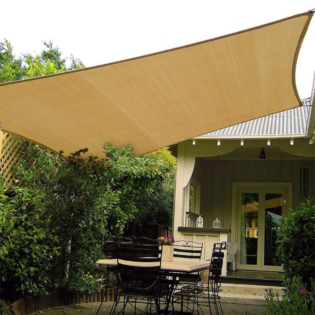 zimo Sun Shade Sail UV Block Sunshades Depot Triangle Canopy Sail Shade for Yard Patio Garden Rectangle