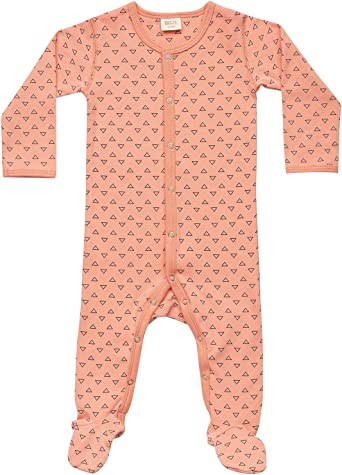 Martha and Marlo Baby Long Sleeve Bodysuit with Snap Poppers Organic Cotton