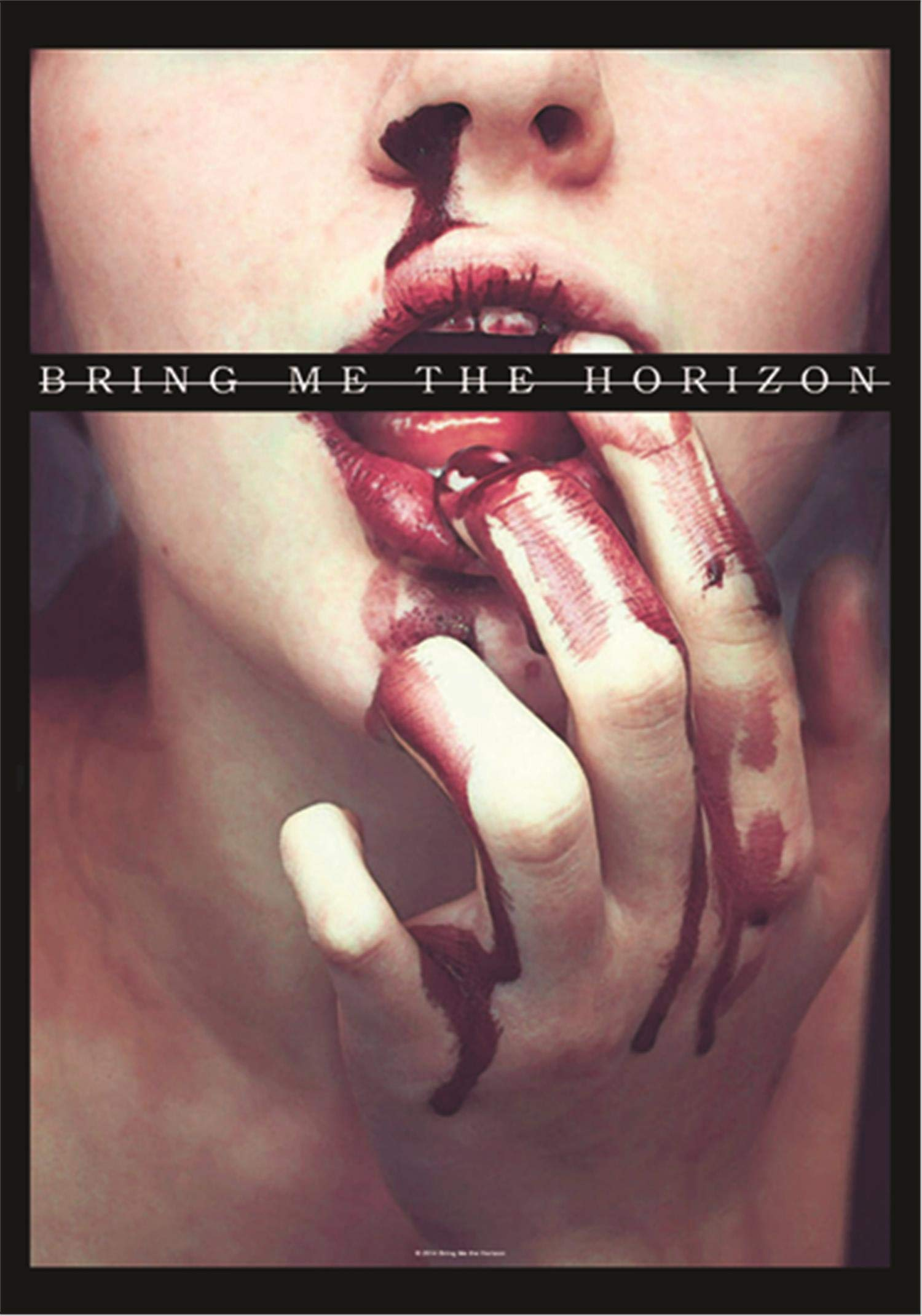 Bring Me the Horizon Lips Textile Poster/Flag