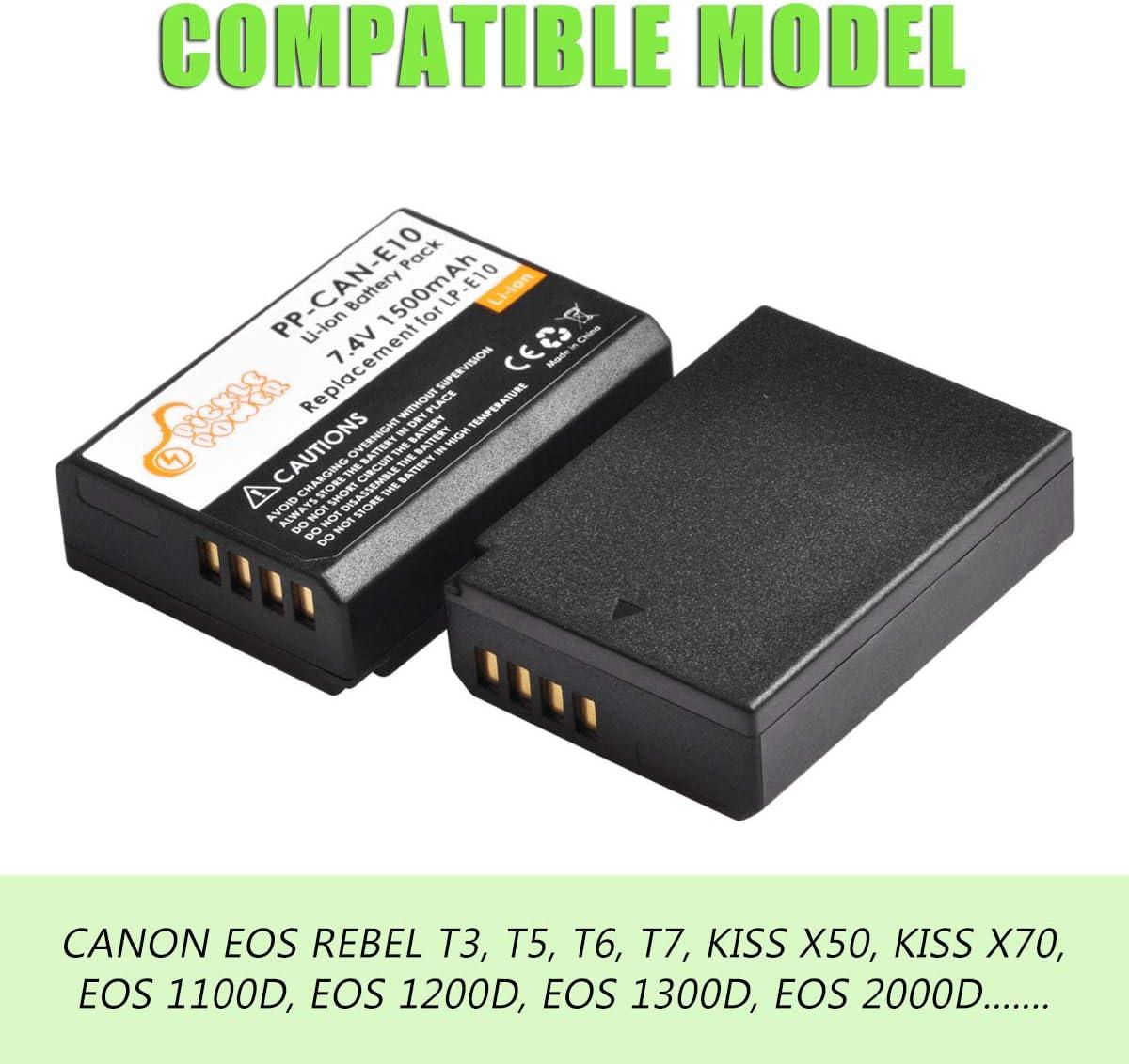 Cargador Canon LP-E10 Canon EOS 1100D EOS Kiss X80 EOS Kiss X50 EOS 1D X