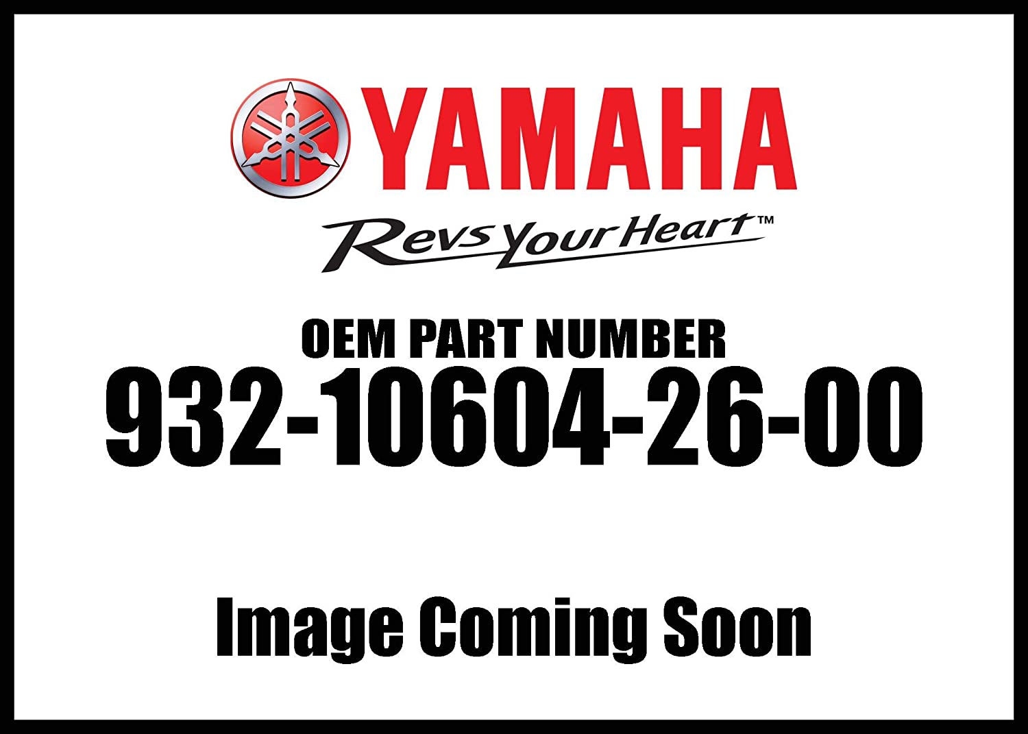 Yamaha 93210-60426-00 O-Ring; 932106042600 Made by Yamaha